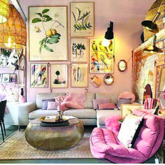 New Ideas Into House Design Interior Living Room Decorating Ideas Never Befo… - Best Home Deco Boho Living Room, Living Room Interior, Home Interior Design, Home And Living, Bright Living Room Decor, Retro Living Rooms, Warm Colours Living Room, Small Living, Colorful Living Rooms