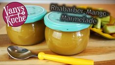Rhabarber-Mango Marmelade - Thermomix® - Rezept von Vanys Küche Nutella, Pudding, Desserts, Food, Marmalade Recipe, Thermomix, Food Portions, Tailgate Desserts, Meal