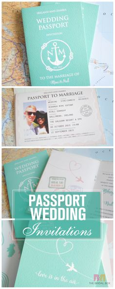 Passport wedding invitations are some of the coolest, modern styles of wedding invitations you could go with. And imagine receiving one of these; it's surely a refreshing change from the standard wedding invite templates. Take a look for yourself!