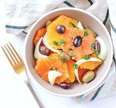 Sicilian Orange, Fennel and Olive salad.