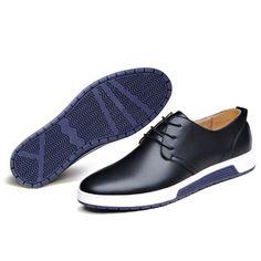 fe7710de1755 Men Pure Color Casual Lace Up British Style Oxford Shoes Men S Shoes, Mens  Fashion