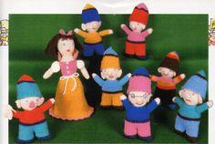 crochet toys crochet pattern pdf download Snow White & the 7 Dwarfs crochet pattern 20cm 12 cm 4 ply fingering by Minihobo on Etsy