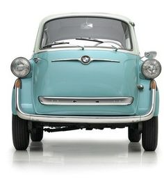 Let's talk cars. BMW Isetta, 1957 It's said to be the very best microcar of its time. BMW teamed up with Milan-based refrigerator company, Iso Spa of all things on this one, thus the name Luxury Sports Cars, Sport Cars, Bmw Sport, Bmw Isetta, Microcar, Vintage Models, Vintage Cars, 3 Bmw, Automobile