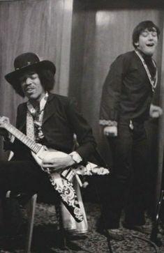 Jimi with Eric Burdon in 1967.