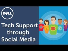 Get tech support for your Dell products through Dell Social Media Support on Facebook and Twitter. Dell provides technical support to its customers via the most popular social media channels using facebook.com/dell and twitter @DellCares. Source: Youtube.