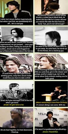 [GIFSET] Jared talking about Jensen (click through for bonus comment :)