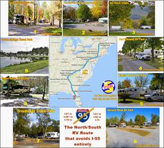 Rv Travel, Travel Maps, Seven Springs, New Port Richey, Rv Parks, Woodstock, East Coast, New England, Maine