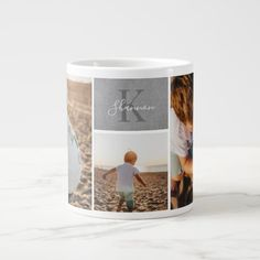 Extra Large Coffee Mugs, Coffee Photos, Unique Gifts For Her, Monogram Gifts, Christmas Gifts For Her, Personalized Mugs, Christmas Card Holders, Holiday Cards, Make It Simple