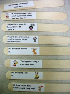 journaling sticks - great idea and compact - First Grade Fresh: A Teenage Dream kind of mood. 1st Grade Writing, Work On Writing, Teaching Writing, Writing Activities, Classroom Activities, Writing Prompts, Teaching Resources, Writing Ideas, Writing Topics