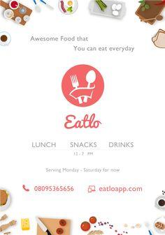 Food Order Pamphlet Flyer Online Order  Dining Dinner Food Drinks Restaurant