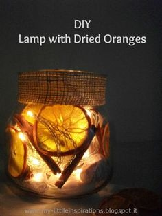 DIY Lamp with Dried Oranges - My Little Inspirations #handmadewinter2017 #thecreativefactory