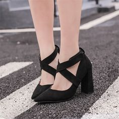 Free shipping spring women's fashion all-match velvet cross straps hook and loop 10cm thick heel pointed toe brief work shoes     Tag a friend who would love this!     FREE Shipping Worldwide     Buy one here---> http://onlineshopping.fashiongarments.biz/products/free-shipping-spring-womens-fashion-all-match-velvet-cross-straps-hook-and-loop-10cm-thick-heel-pointed-toe-brief-work-shoes/
