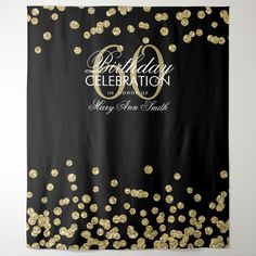 "Elegant Sweet Sixteen Birthday Party ""Photo Booth Backdrop"" Rose Gold Glitter Confetti on Black. Birthday Roses, Glitter Birthday, Glitter Confetti, Rose Gold Glitter, Black Glitter, Black Silver, 70th Birthday Parties, Birthday Ideas, Birthday Diy"
