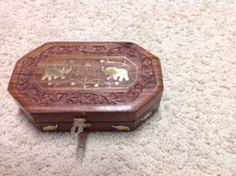 Treasure Keepsake Jewelry Box Indian Art handmade by Artsiart, $18.99