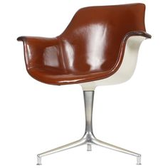 Rare FK-810 swivel by Preben Fabricius and Jørgen Kastholm for Alfred Kill ca.1964