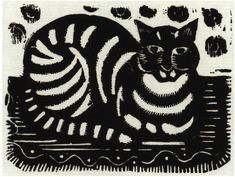 #Katherine #May #Fryer: The #Cat (before 1940)  Unmounted (ref: 8361) #Print from original #woodblock #modernart #llfa #art