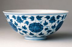 """Bowl,   China, Jiangxi Province; Ming period (1368-1644), Chenghua era, 1465 - 1487  This thin-bodied porcelain bowl decorated with precisely painted chrysanthemums belongs to a category known as """"palace bowls,"""" which are regarded as some of the most outstanding examples of the superb porcelain produced during the reign of the Chenghua emperor (reigned 1465 - 1487)."""