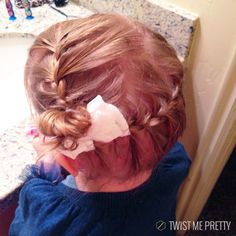French braid to the side for a unique fancy hairstyle on toddler girls
