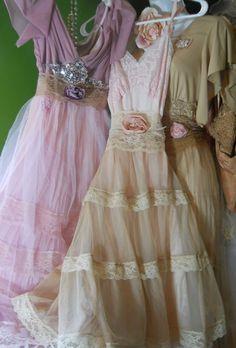 Vintage lace dresses.