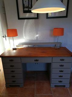 Pine dressing table / desk updated by Revivals and Restorations Ltd Dressing Table Desk, Corner Desk, Pine, Restoration, Inspiration, Furniture, Home Decor, Corner Table, Pine Tree