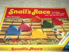 Rare Vintage Board Game. snail race. ravensburger, fisher price