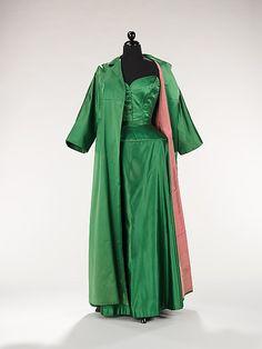 Evening ensemble Bonnie Cashin  (American, 1915–2000)  Date:     1950 Culture:     American Medium:     silk