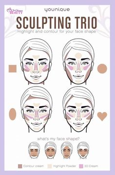Love that Younique brings out the best products and teaches you how to use them.  The sculpting trio is perfect for contouring beginners