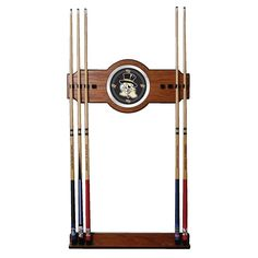 Trademark Global, Inc. Wake Forest University Wood and Mirror Wall Cue Rack