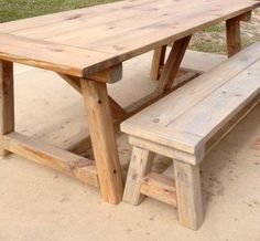 Made of wood this table is sturdy and meant to last a very long time. TABLE   87 long (table top)   30 high   65 wide (feet space under table)