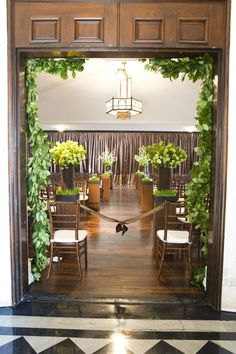 This would look nice around the doors leading out to the back yard. Green Wedding, Summer Wedding, Wedding Colors, Wedding Ideas, Mauritius Wedding, Saag, Green And Purple, Wedding Cakes, How To Look Better