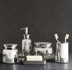 metal bathroom accessories by restoration hardware