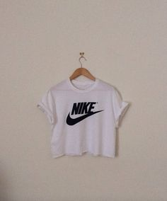 07e38a1510a87 classic white nike sexy swag style crop top by 0BubblegumBoutique0 Nike  Crop Top