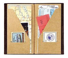 Kraft Card Holder for Midori Travelers Notebook por PapergeekCo