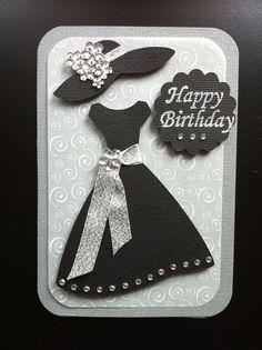 Tarjeta acromática de compleaños para dama