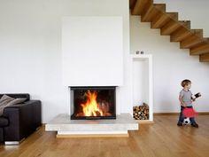 Kachelofen Modern Produkte - moderne Kamine & Kachelöfen vom Profi Stairs, Home Decor, Trendy Tree, Fireplace Heater, Tiling, Contemporary Fireplaces, Contemporary Design, Full Bath, Products