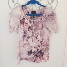 I just added this to my closet on Poshmark: French Blue Floral Pink Peasant Top Small. Price: $15 Size: S