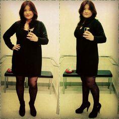 Amor pela minha meia-calça de corações (Marisa). Vestido de tricô Marisa + Melissa Eletric