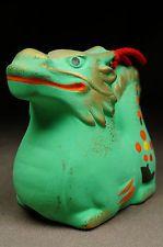 kissako 3395 японські Антикварні глиняні ляльки дзвони старовинні Нецке Малюнок Дракон