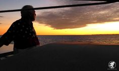 Captain Bud of the Old Glory catamaran staring out at another magical SW Florida sunset. #SWFL #Sailing