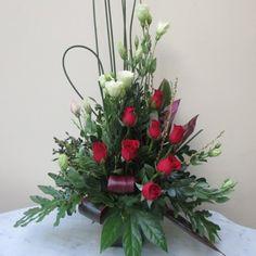 Buena Onda   Rosas importadas - Lisianthus y follaje en armonia