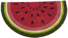 DII Watermelon Picnic Watermelon Doormat by DII. $41.40. Coordinates with all dii watermelon picnic items. Measures 18-inch x 30-inch. Great addition to your entry. Coir with vinyl backing. Dii watermelon doormat is sure to brighten up your entry. Watermelon doormat is a semi circle measuring 18-inch x 30-inch. Natural coir fiber with long lastin vinyl backing. Freshen up your doorway