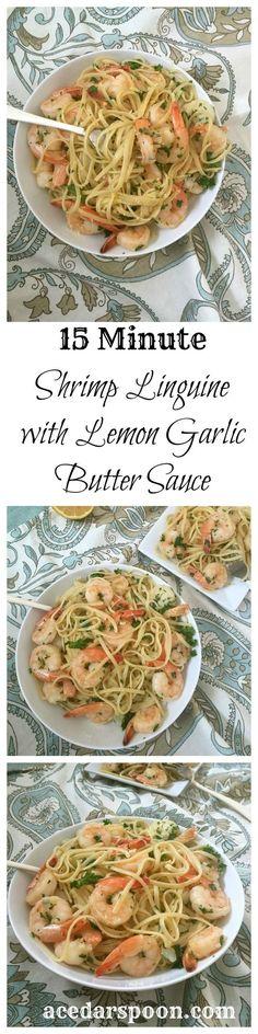 15 Minute Shrimp with Lemon Garlic Butter Sauce