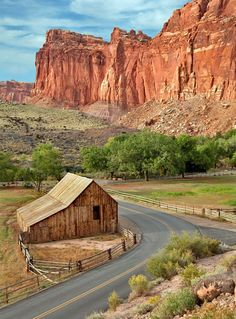 Mormon Settlement Barn at Capitol Reef National Park | 7 National Parks with the Most Scenic Drives