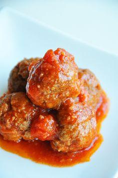 Spiced lamb meatballs in tomato sauce