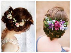Noiva Plugada: Noiva - Arranjo de Cabelo com Flores