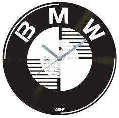 BMW vinyl clock by CROPSHOPlt on Etsy