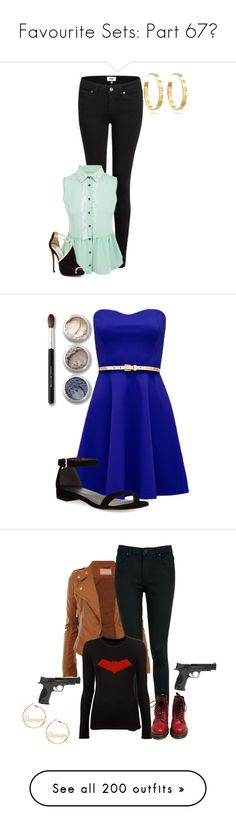 """Favourite Sets: Part 67❣"" by moon-and-starss ❤ liked on Polyvore featuring Paige Denim, Jimmy Choo, Tory Burch, Forever New, Stuart Weitzman, Bare Escentuals, T By Alexander Wang, rag & bone, Dr. Martens and Smith & Wesson"
