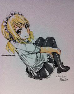 NAWW she looks so cute in her uniform!!