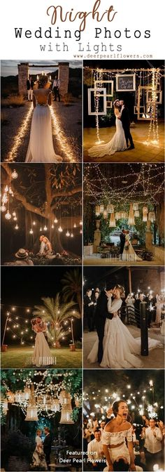 Top 20 Must See Night Wedding Photos with Lights Romantic rustic country light wedding photos - rustic country wedding ideas Night Wedding Photos, Starry Night Wedding, Night Photos, Wedding Pictures, Wedding Night Dress, Night Wedding Ceremony, Wedding Dresses, Wedding Centerpieces, Wedding Decorations