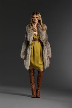 Love this Gucci pre-fall outfit!  ...what it must be like to wear fur like that, a girl can dream.